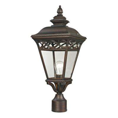Mendham 1-Light Outdoor Hazelnut Bronze Post Lantern