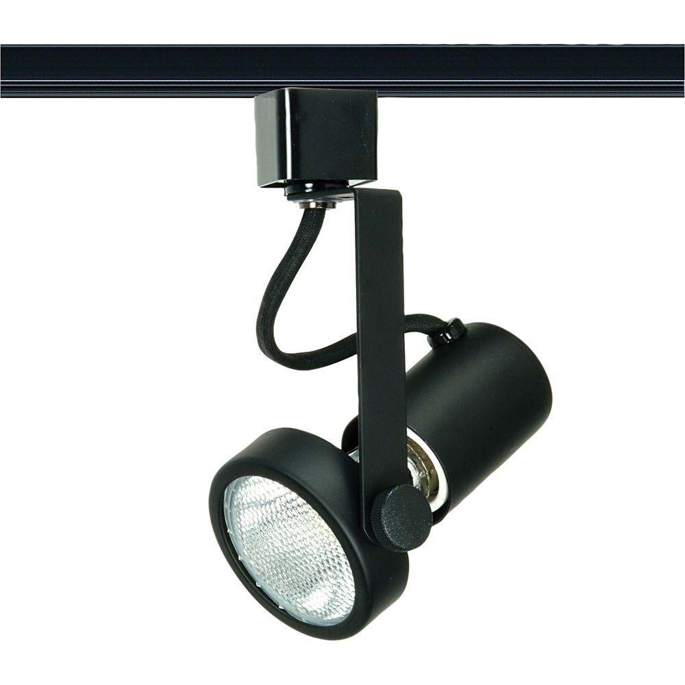 1-Light PAR20 Black Gimbal Ring Track Lighting Head