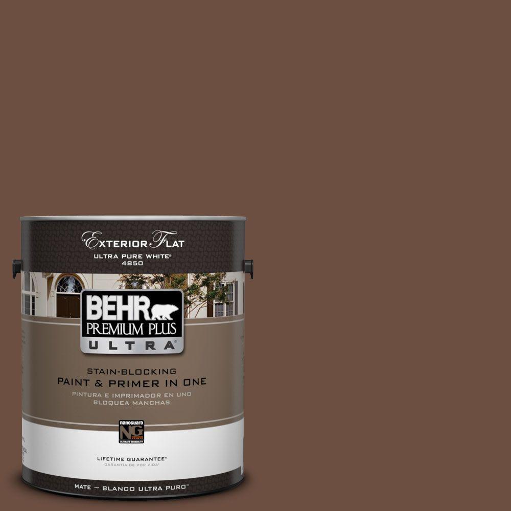 BEHR Premium Plus Ultra 1-Gal. #UL130-21 Moroccan Henna Flat Exterior Paint