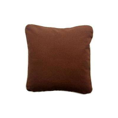16 in. x 16 in. Brown  Standard Pillow with Green Eco Friendly Insert