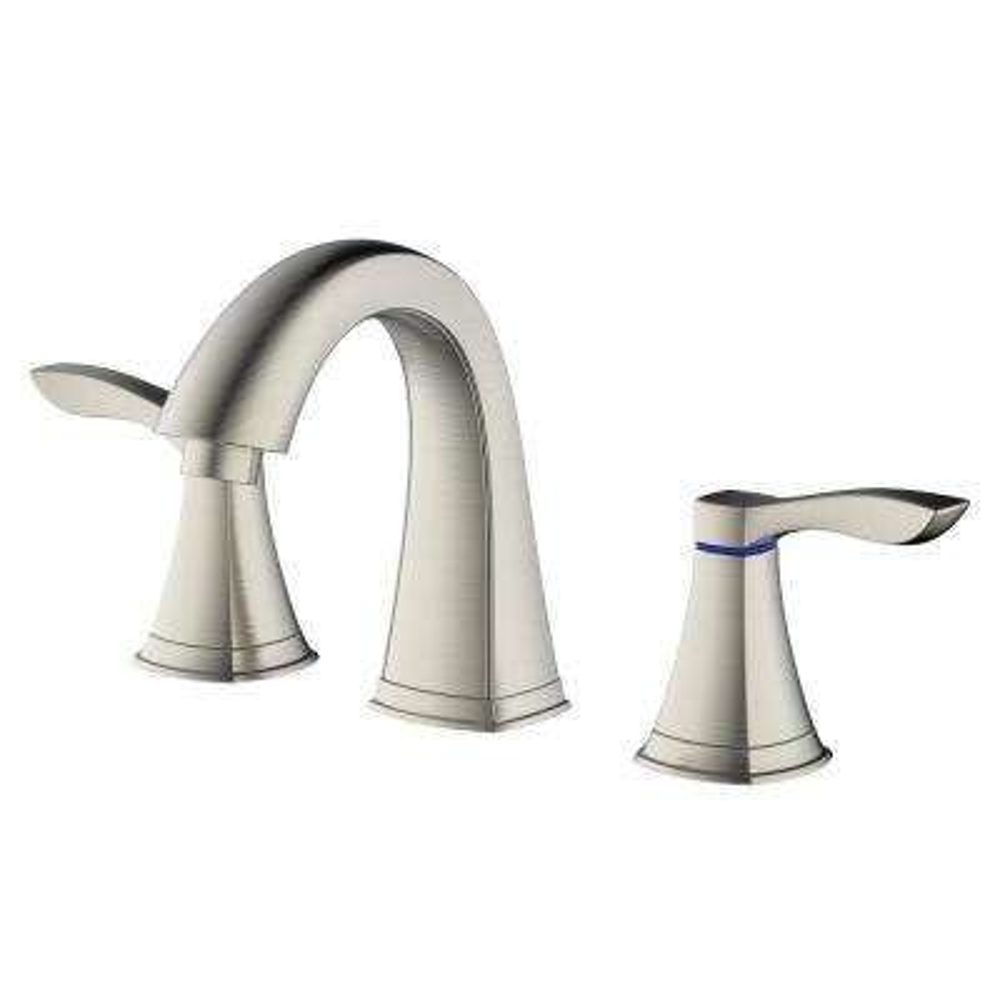 Moonstone 8 in. Widespread 2-Handle Hi Arc Bathroom Faucet in Brushed Nickel