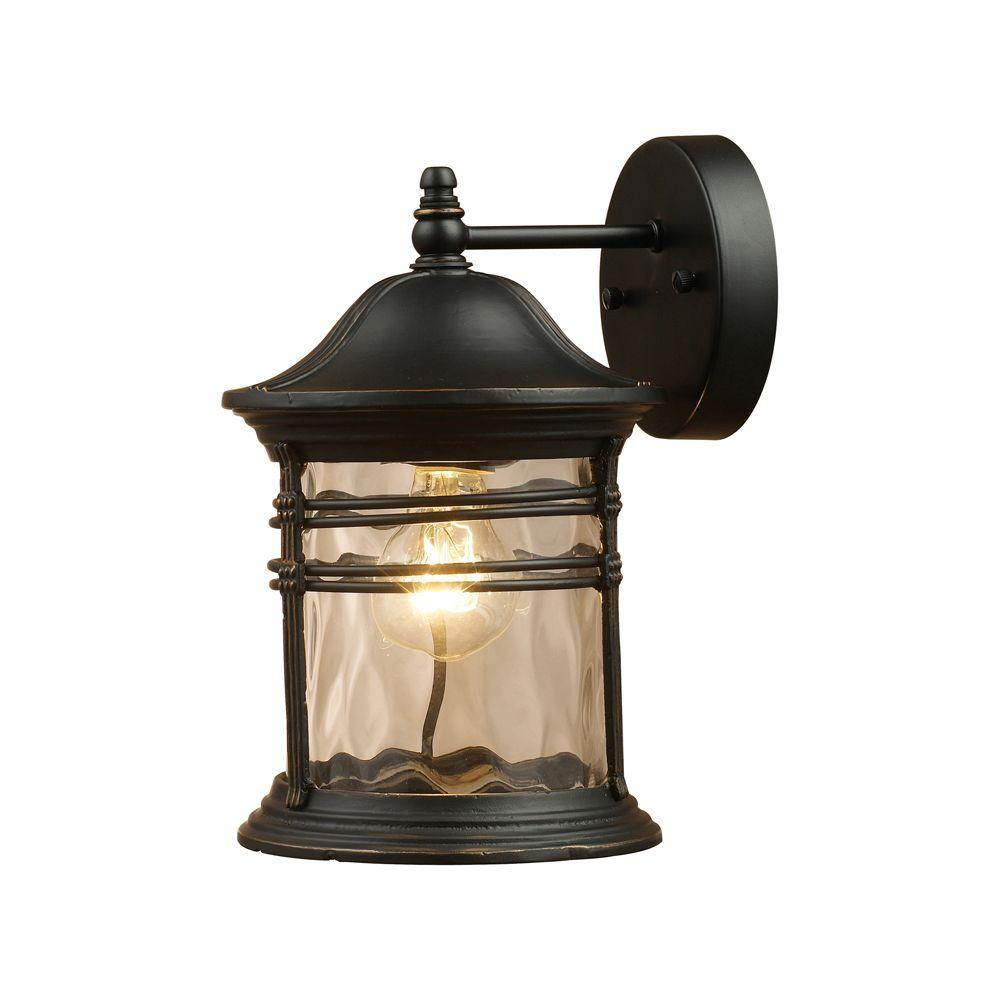 Madison 1-Light Wall Mount Outdoor Matte Black Sconce