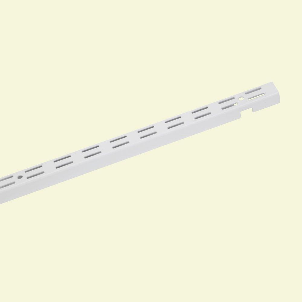 ShelfTrack 60 in. x 1 in. White Standard