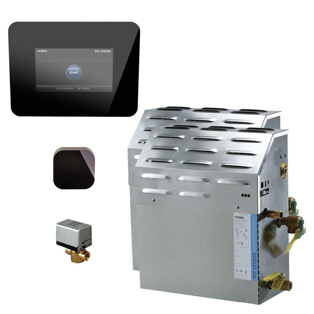 Mr. Steam 24kW Steam Bath Generator with iSteam 2.0 AutoFlush Package in Black