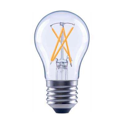 60-Watt Equivalent A15 Dimmable Clear Glass Decorative Filament Vintage Edison LED Light Bulb Soft White (48-Pack)