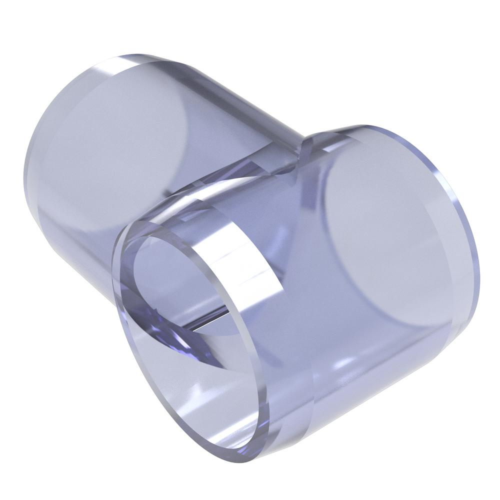 Formufit 1/2 in. Furniture Grade PVC Slip Sling Tee in Clear