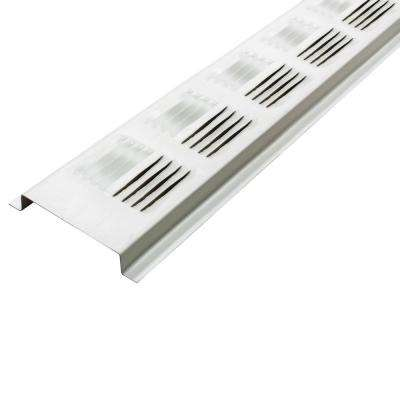 2.6 in. x 96 in. White Louvered Aluminum Retrofit Continuous Soffit Vent (Sold in 50-Pieces/Carton Only)