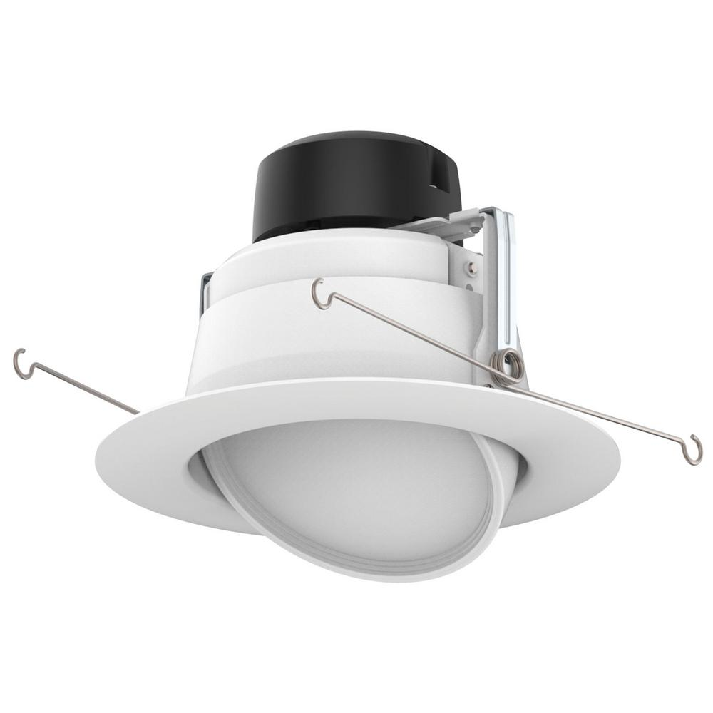 ProLED 6 in. White Integrated LED Recessed Ceiling Light Dimmable Adjustable