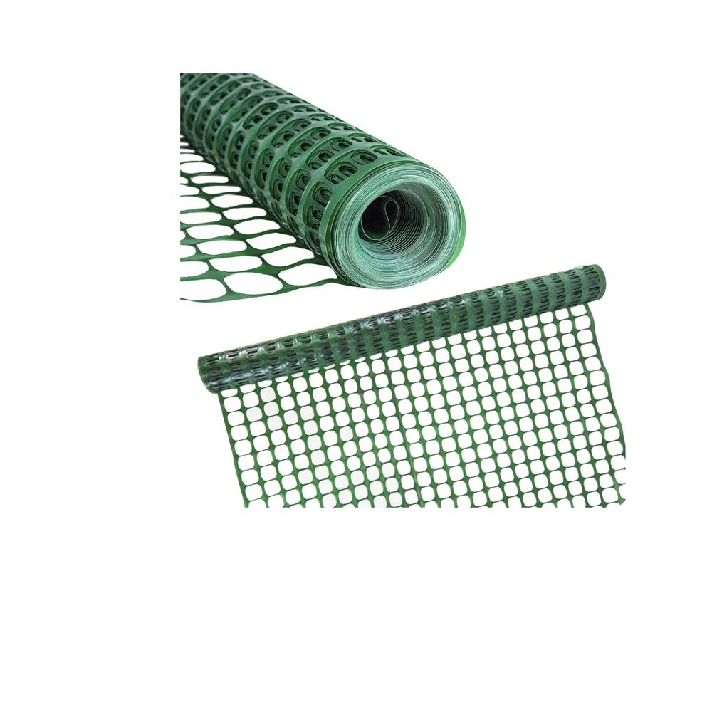 BOEN 4 ft. x 100 ft. Green Construction Snow/Safety Barrier Fence