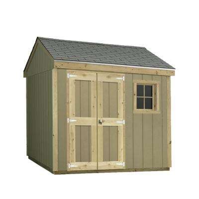 Installed Hide-A Way 8 ft. x 10 ft. Smart Siding Shed