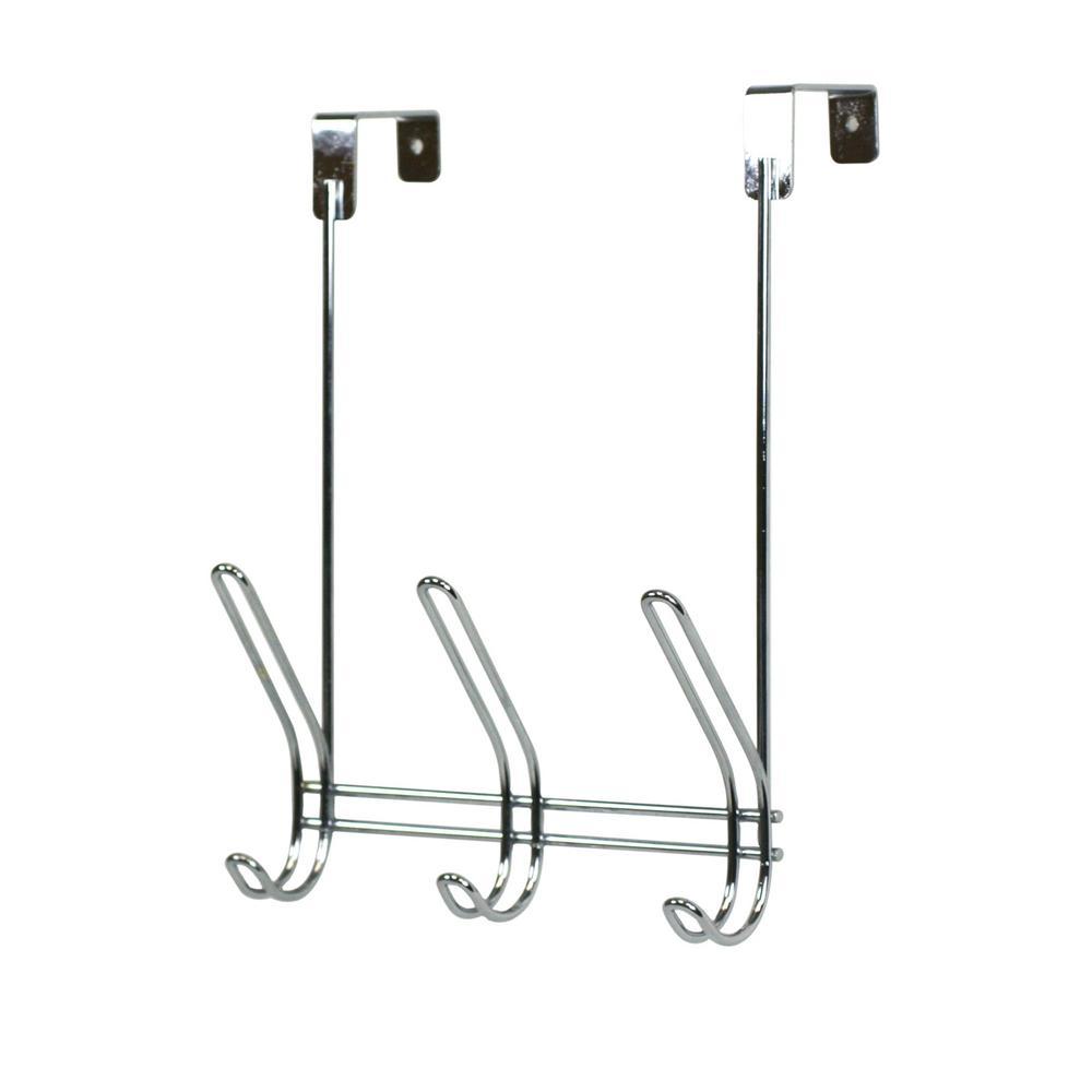 Chrome 3 lbs. Over the Door Hook Hanger