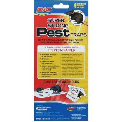 4 Glue Pest Trap for Spiders and Snakes (3-Packs)