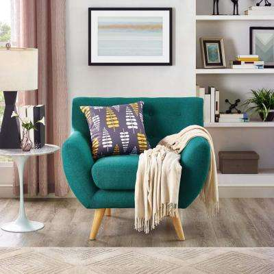 Remark Teal Upholstered Armchair