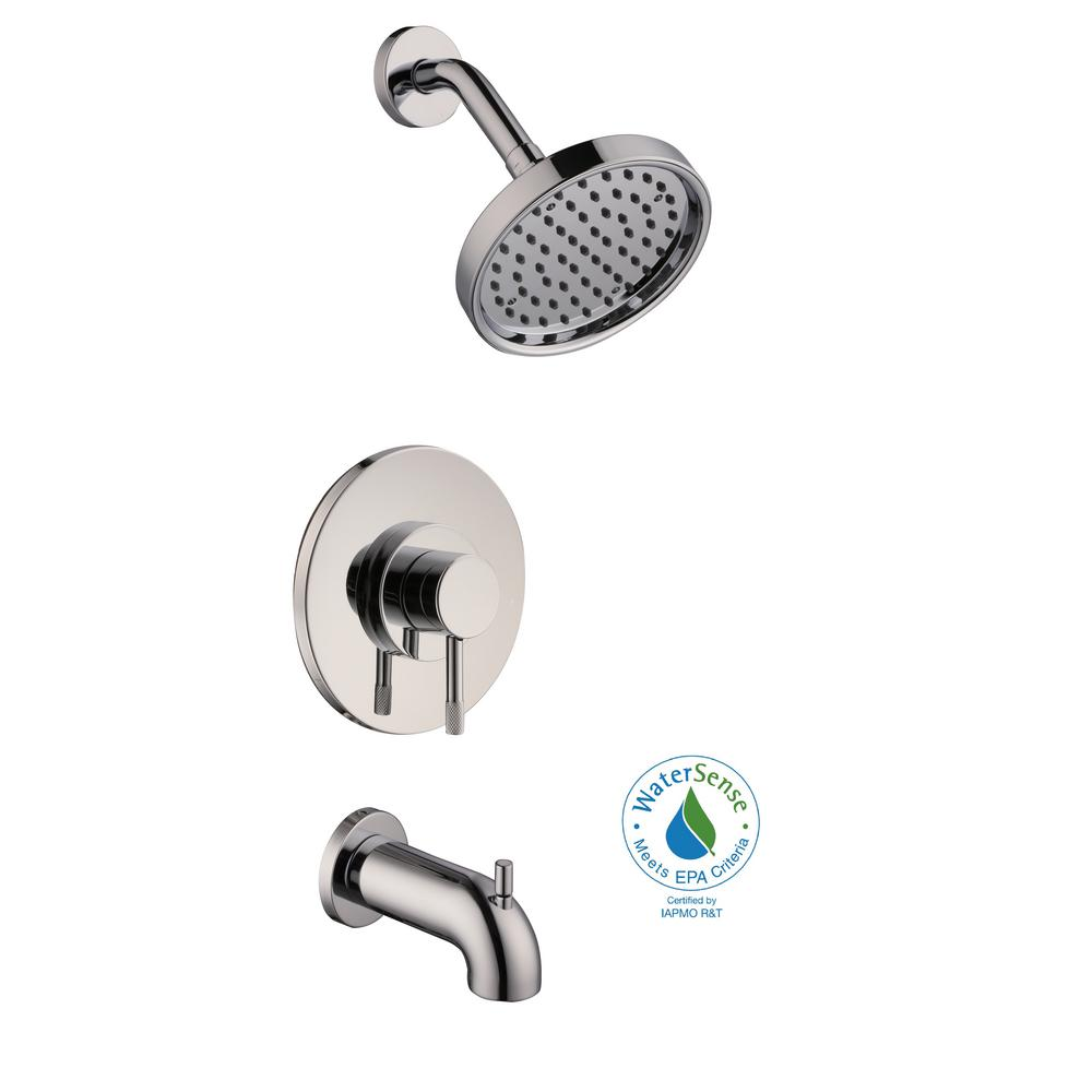 Axel Single-Handle 1-Spray Tub and Shower Faucet in Chrome