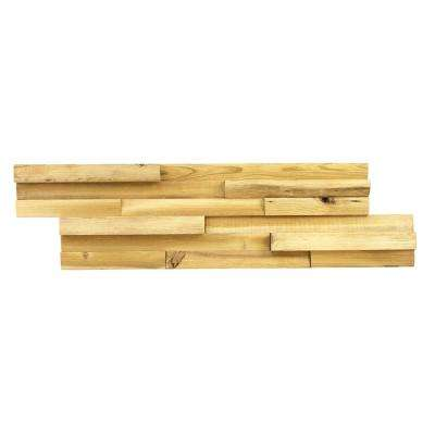 1-3/8 in. x 7 in. x 26-1/2 in. Light Brown Reclaimed Wood Plank (9-Panels) (10.4 sq. ft./Case)