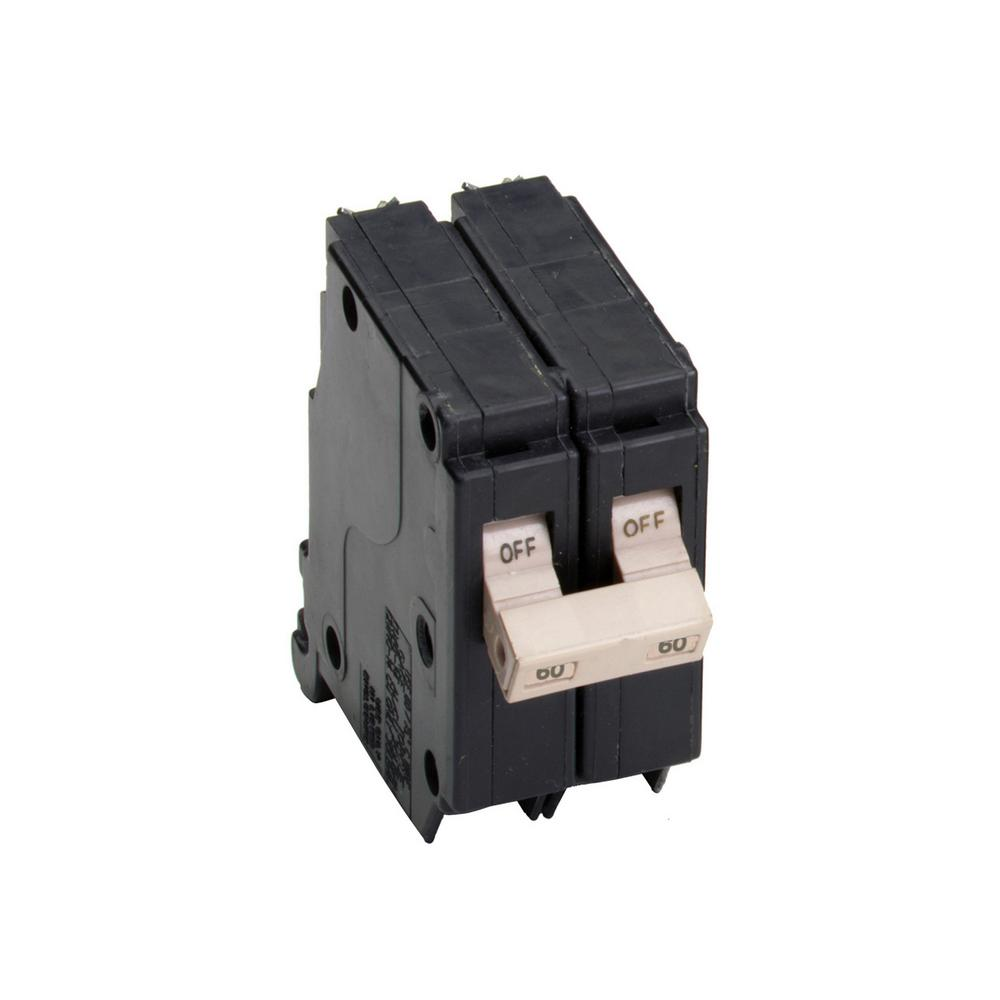 Eaton Ch 60 Amp 2 Pole Circuit Breaker Ch260 The Home Depot