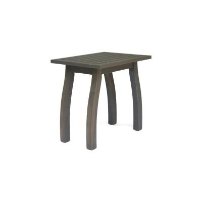 Lance Gray Wood Outdoor Accent Table