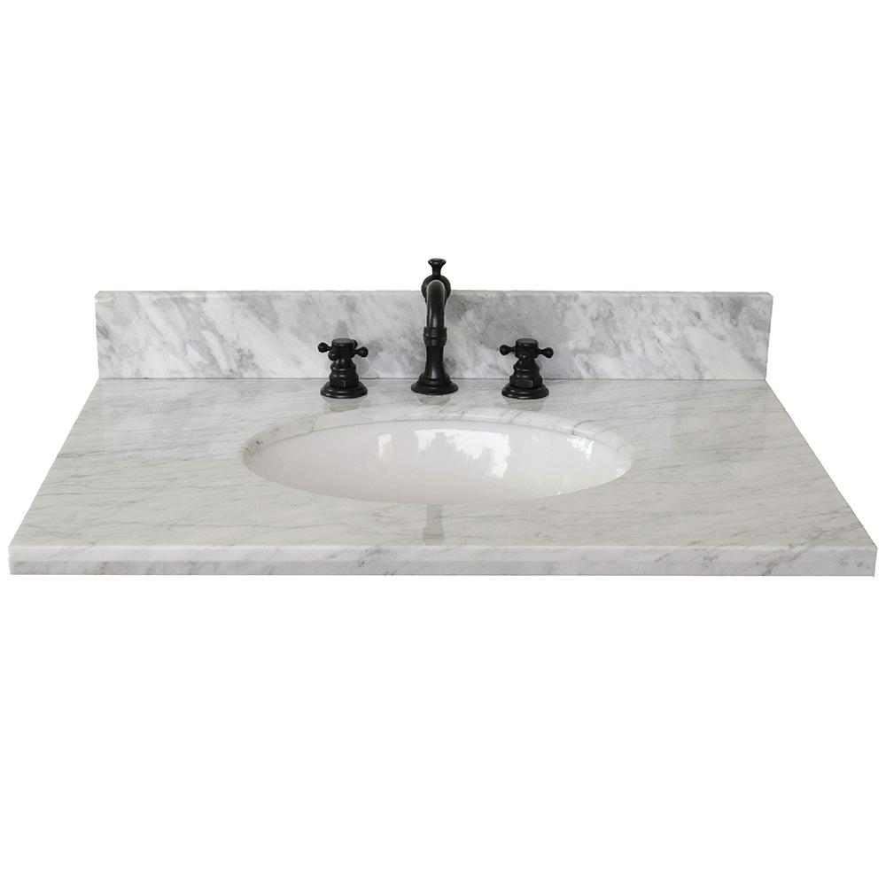 Ragusa 31 in. W x 22 in. D Marble Single Basin