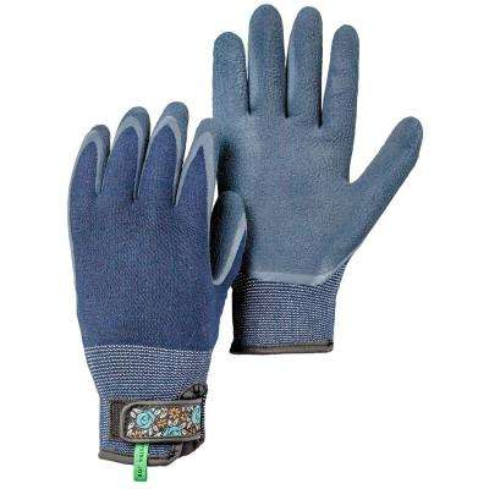 Small Indigo Bamboo Spandex Gardening Gloves