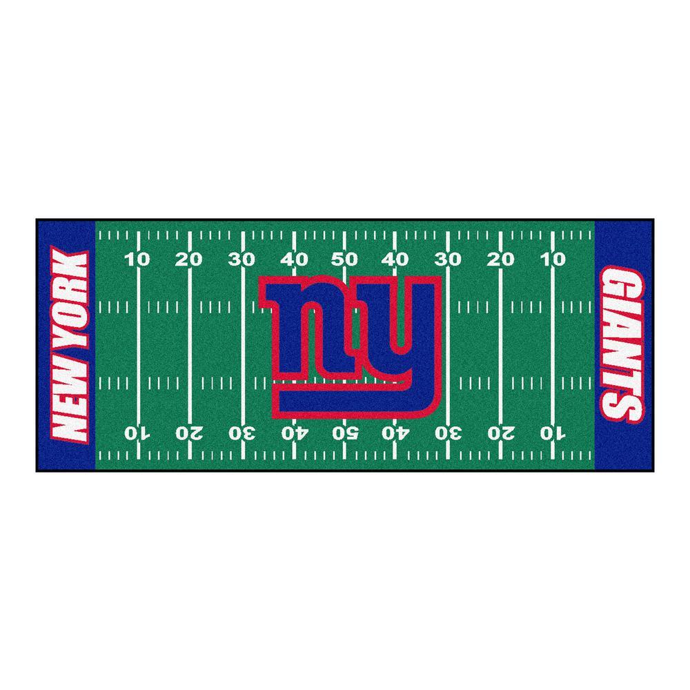 FANMATS New York Giants 3 ft. x 6 ft. Football Field Runner Rug