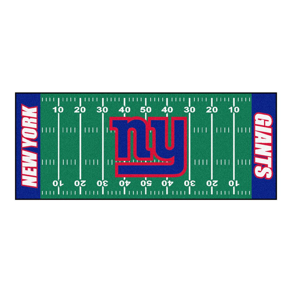 FANMATS New York Giants 3 Ft. X 6 Ft. Football Field Runner Rug