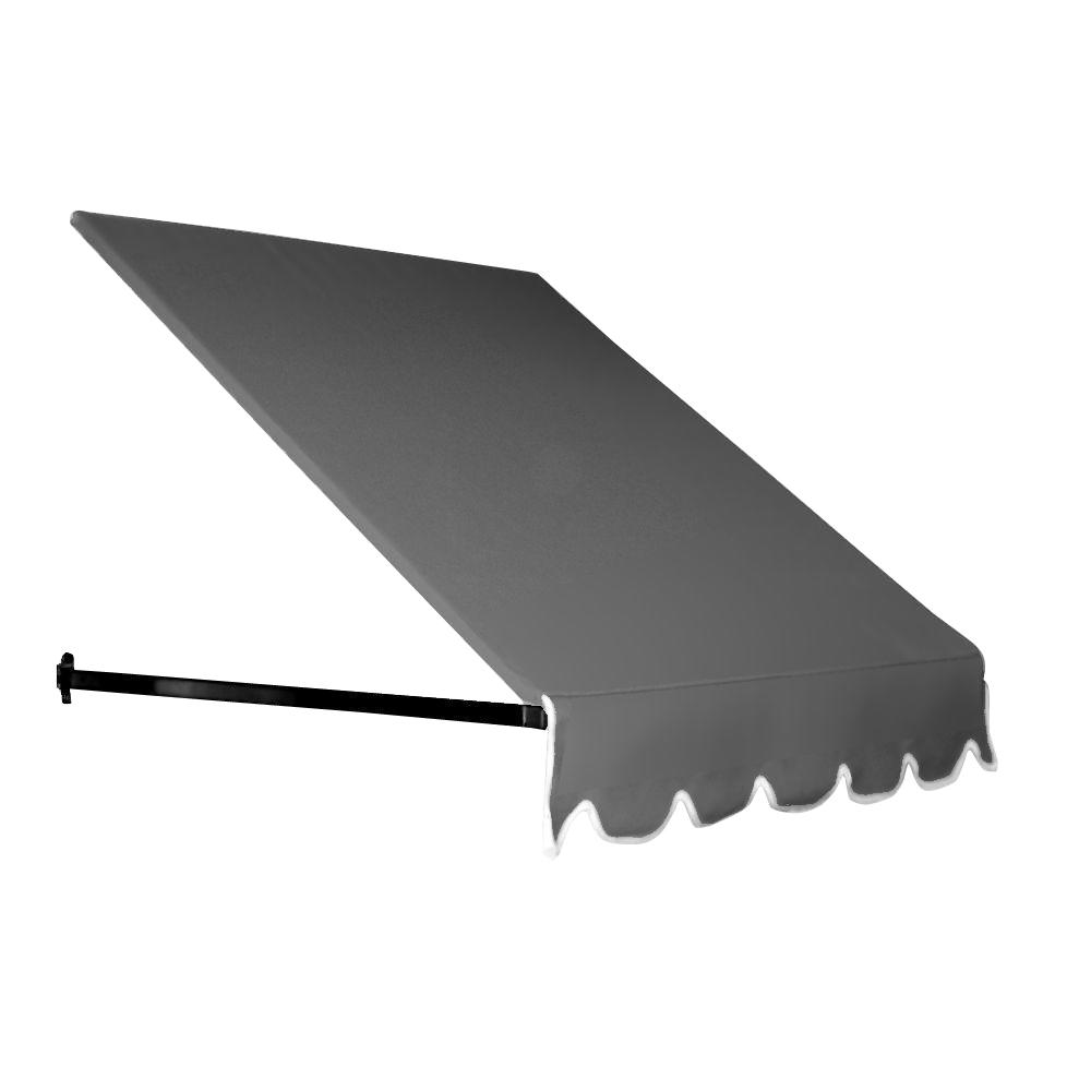 AWNTECH 45 ft. Dallas Retro Window/Entry Awning (56 in. H x 48 in. D) in Gray