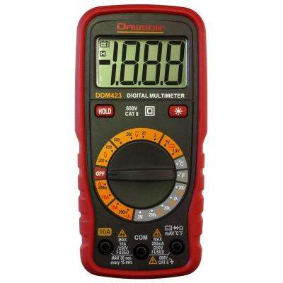 Compact Digital Multimeter with Ambient Temperature