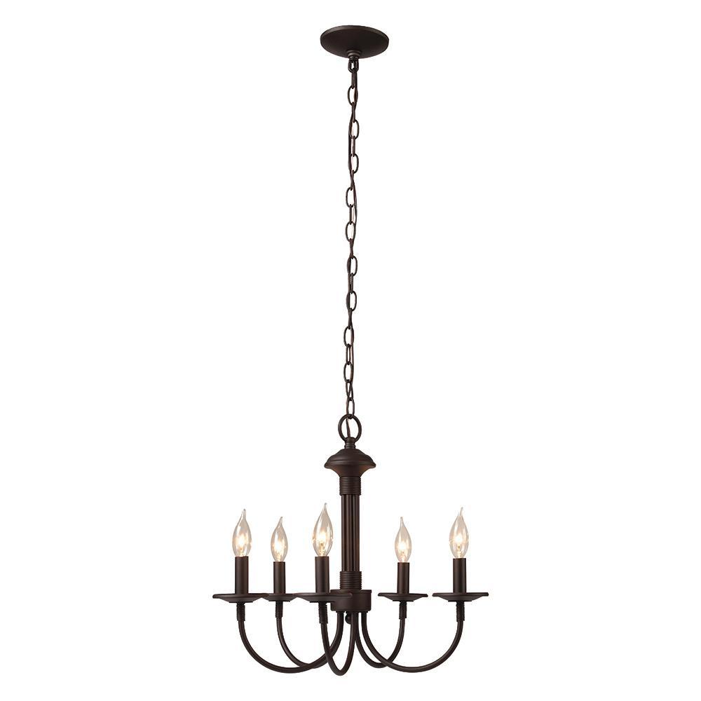 Monteaux Lighting 5-Light Oil Rubbed Bronze Chandelier
