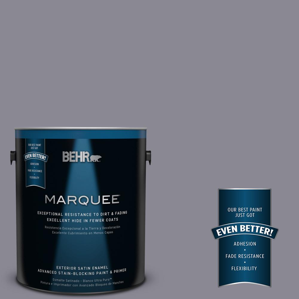 BEHR MARQUEE 1-gal. #PPU16-15 Gray Heather Satin Enamel Exterior Paint