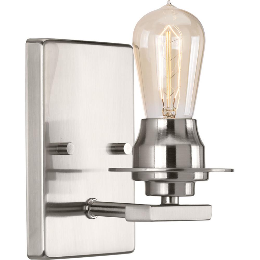 Debut Collection 1 -Light Brushed Nickel Bath Light