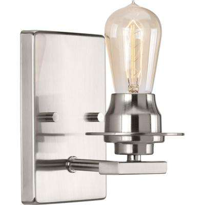 Debut Collection 1-Light Brushed Nickel Bath Sconce