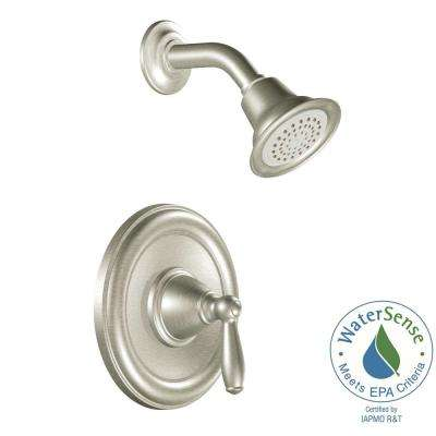 Brantford 1-Handle Posi-Temp Shower Only Trim Kit in Brushed Nickel (Valve Not Included)