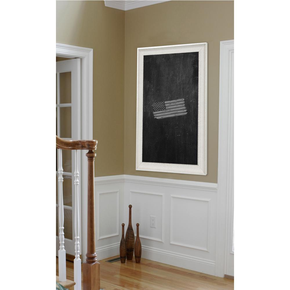 28 in. x 22 in. Vintage White Blackboard/Chalkboard