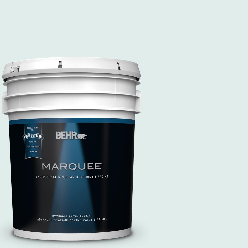 Behr marquee 5 gal 500e 1 cumulus satin enamel exterior for Exterior paint satin 5 gal