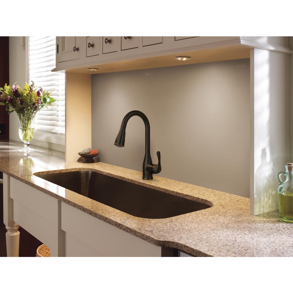 Kaden Single-Handle Pull-Down Sprayer Kitchen Faucet with Reflex and Power Clean in Mediterranean Bronze