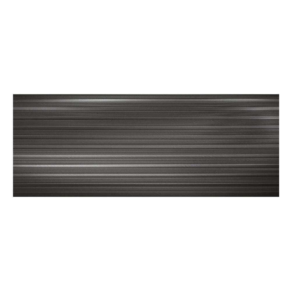 Black 9.25 in. x 24 in. PVC Stair Tread Cover