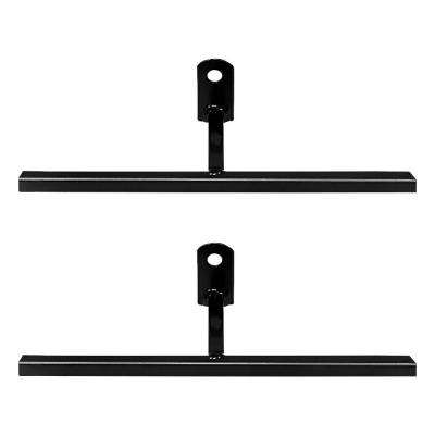 3 in. Black T-Bracket with Screws (2-Pack)