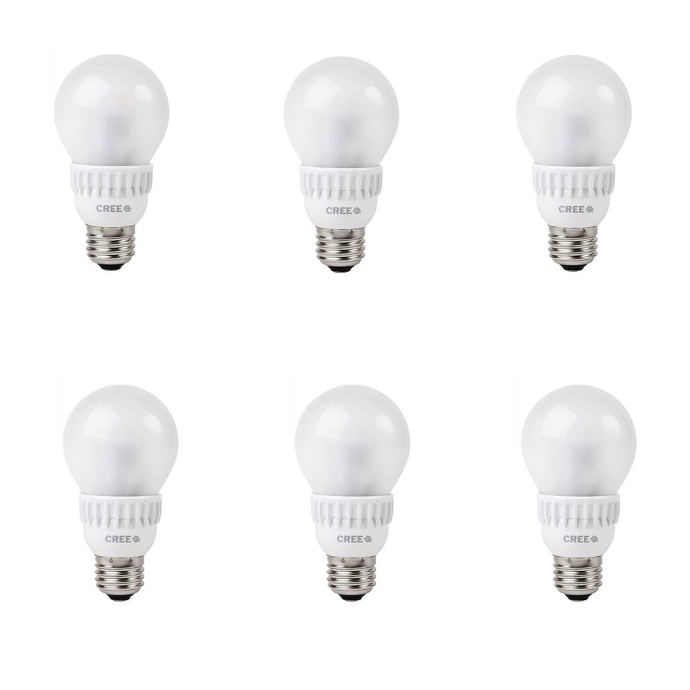 Cree 40w Equivalent Soft White 2700k A19 Dimmable Led Light Bulbs 6 Pack