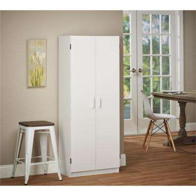 60 in. H x 23 in. W x 12.5 in. D Hollowcourt White Freestanding Storage Cabinet