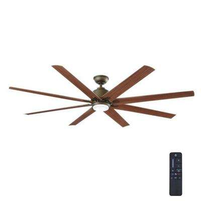 Wet rated ceiling fans lighting the home depot led indooroutdoor espresso bronze ceiling fan with remote control aloadofball Image collections