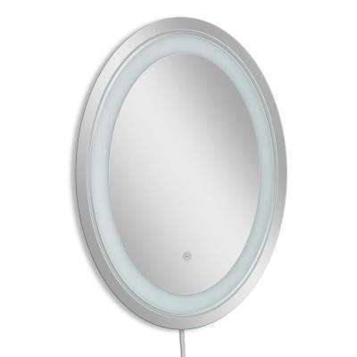 23 in. W x 29 in. H Single Frosted Oval LED Mirror