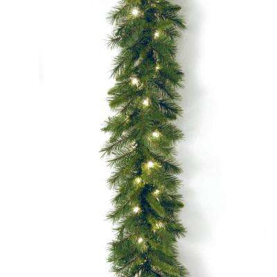 Winchester Pine 9 ft. Garland with Clear Lights