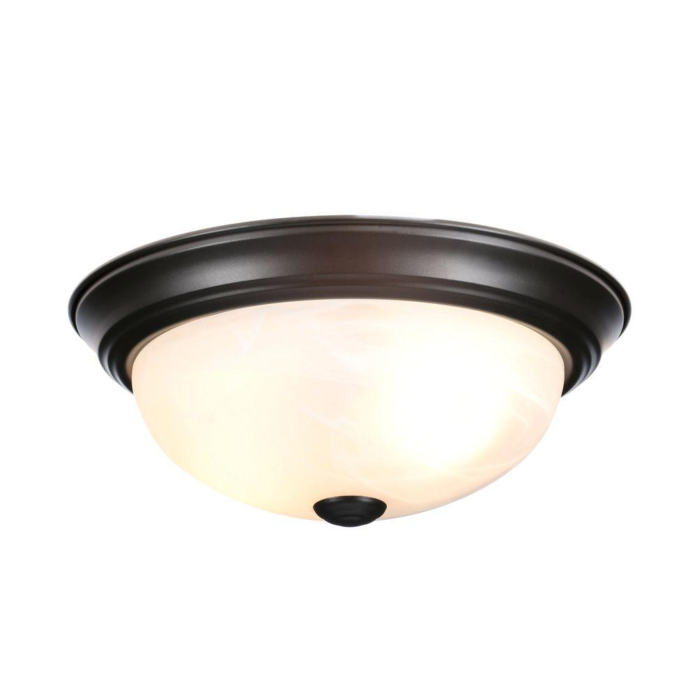 bronze light fixtures designers reedley collection 2 light flush 28913