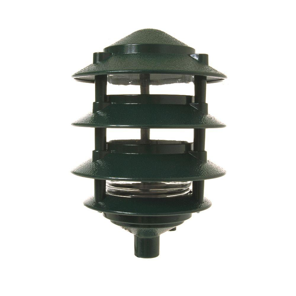 Bell Outdoor Post Lights: BELL 4-Tier Green Outdoor Landscape Path Light-5893-8