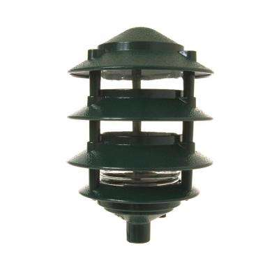 4-Tier Green Outdoor Landscape Path Light