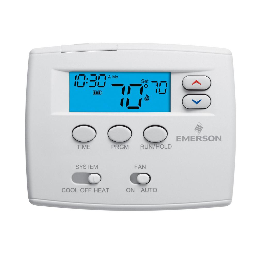 Emerson 5-1-1 Day Programmable Thermostat-1f80-0261