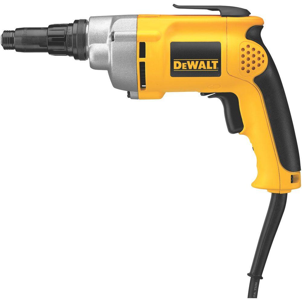 DEWALT 6 Amp 4,000 RPM Lightweight VSR Drywall Screw Gun-DW252 - The Home  DepotThe Home Depot