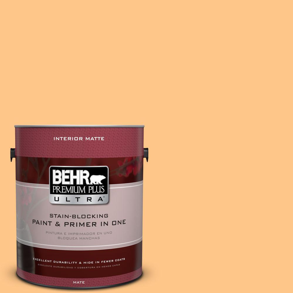 BEHR Premium Plus Ultra 1 gal. #P240-4 Mango Tango Matte Interior Paint