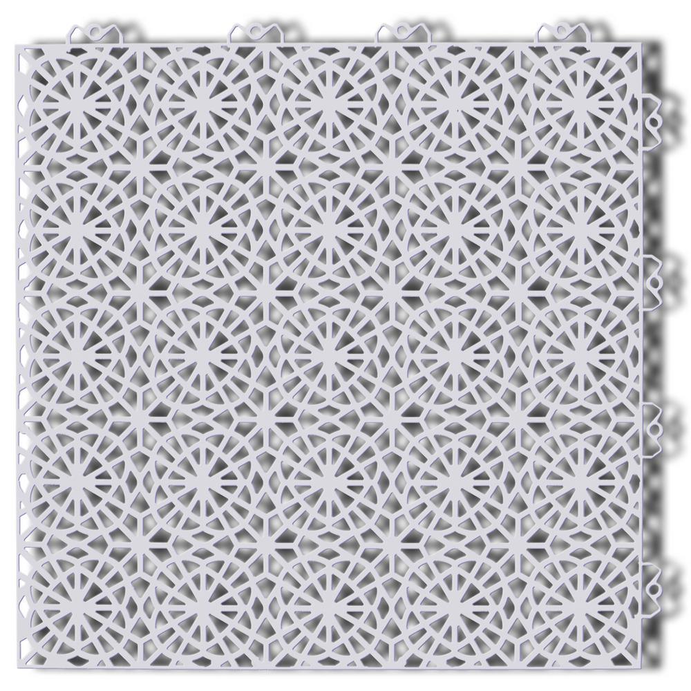 XL Tiles 1.24 ft. x 1.24 ft. PVC Deck Tiles in Shadow Gray, 35-Tiles per Case, 54 sq. ft