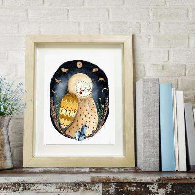 12 in. H x 10 in. W 'Dreaming Owl' by Wynwood Studio Printed Framed Wall Art